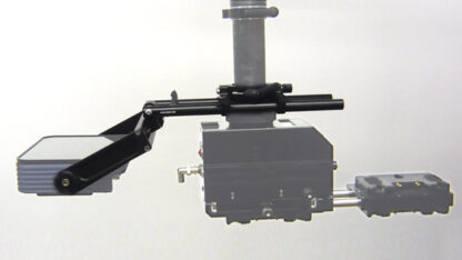 Quattro monitor arm with integrated yoke