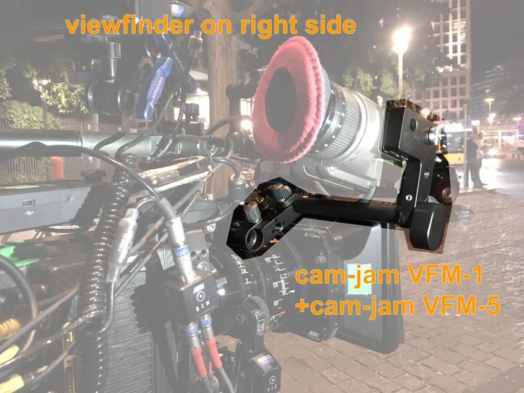 arri alexa viewfinder right side